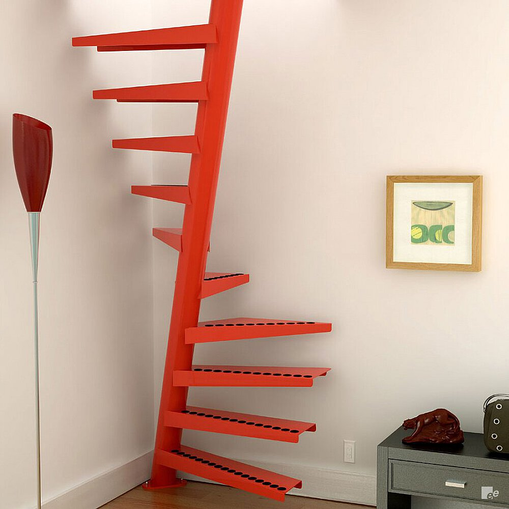 Attic stairs narrow stairs - Space saving stair design ...