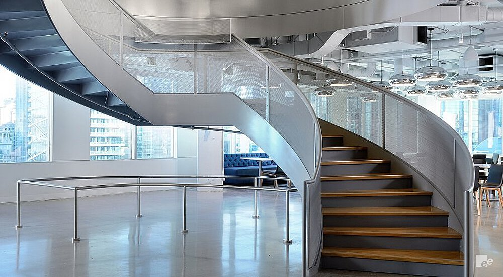 Stylish Stair For Toronto Office Space