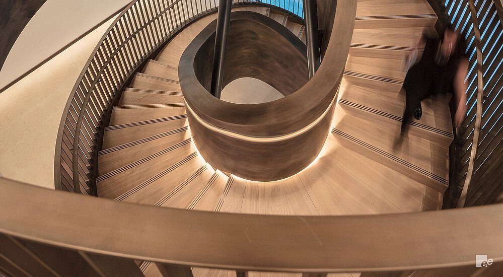 birdseye view of exclusive staircase design