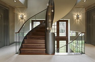 Curved Staircase Helical Stairs By Eestairs
