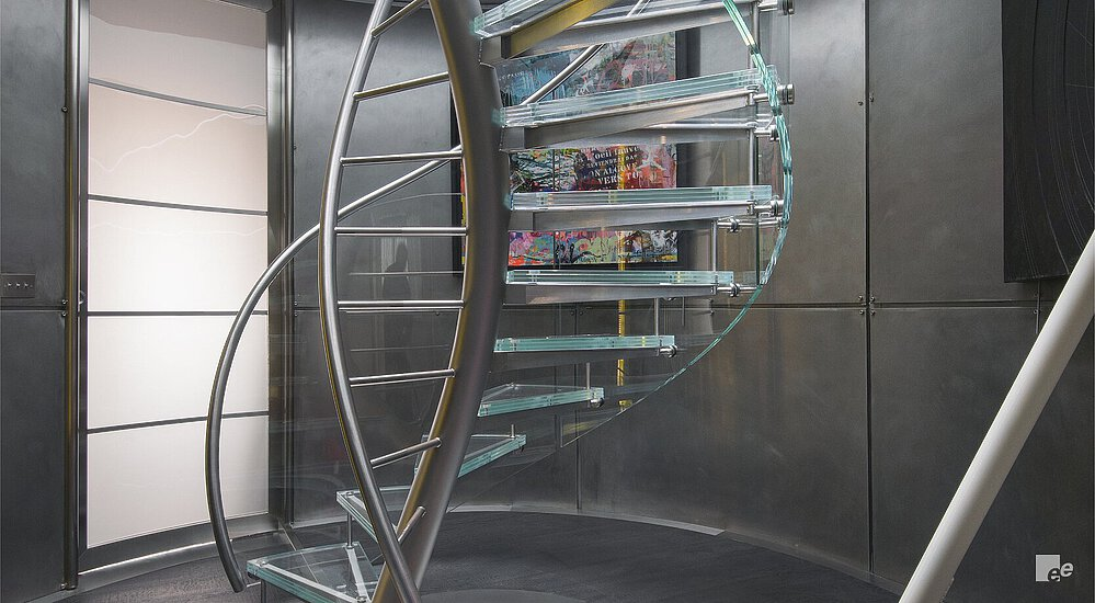 Exclusive look for penthouse staircase