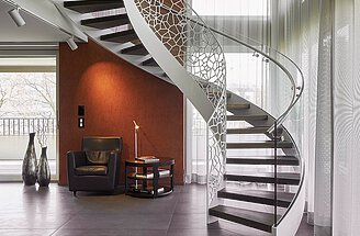 Curved staircase | Helical stairs by EeStairs